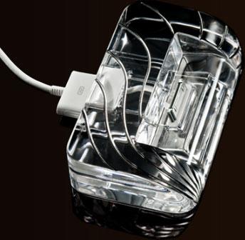 Soporte y cargador para iPhone 4