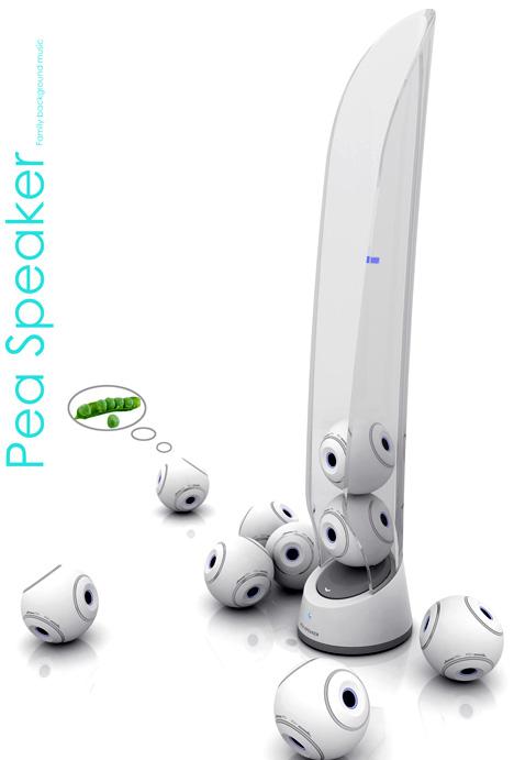 Pea speaker background music system 2