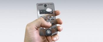 Teléfono móvil con pantalla transparente 4