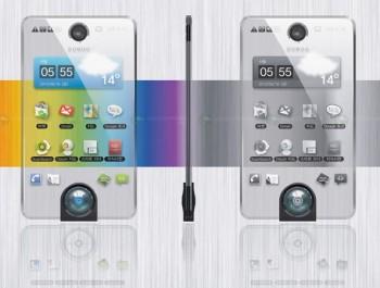 Teléfono móvil con pantalla transparente 1