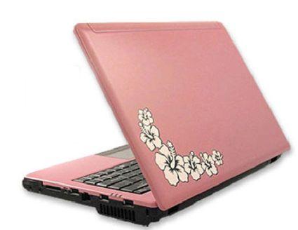El rosa en un portátil 3