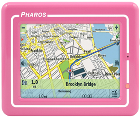 Pharos GPS en color rosa 3