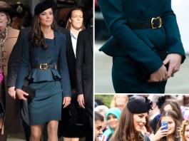 Kate Middleton con vestido peplum
