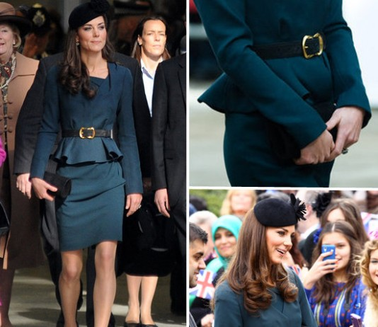 Kate Middleton con vestido peplum