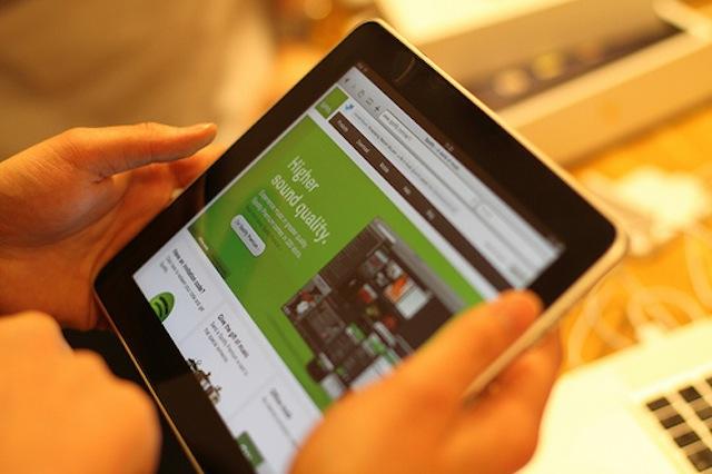 Spotify lanza su aplicación para iPad 3