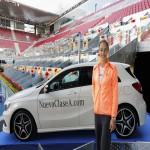 La tenista Ana Ivanovic acompaña la presentación del Nuevo Clase A de Mercedes 2