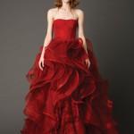 Vestidos de novia rojos de Vera Wang 1