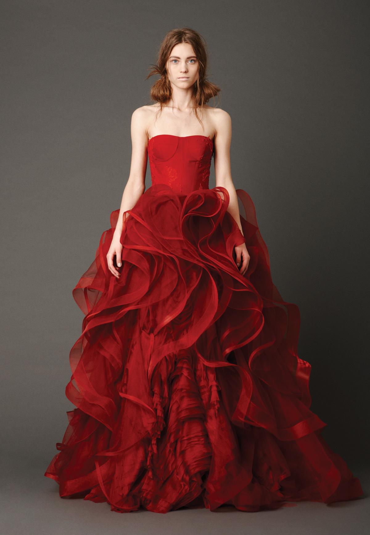 Vestidos de novia rojos de Vera Wang - Mujeres - Blog de belleza y ...