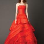 Vestidos de novia rojos de Vera Wang 4