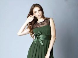 vestido de fiesta corto canesu encaje