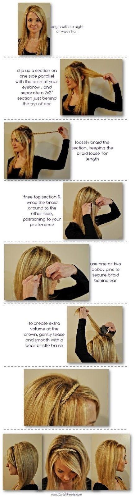 Peinados sin accesorios: hazte una diadema con tu pelo con este tutorial 1
