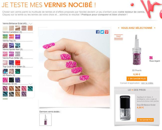 Probador virtual de esmaltes de uñas con Nocibé 2