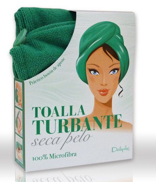 Toalla turbante Deliplus para secarte el pelo de la forma más simple 2