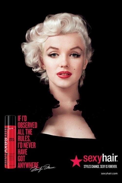 Los productos capilares Sexy Hair se quedan con Marilyn Monroe 2