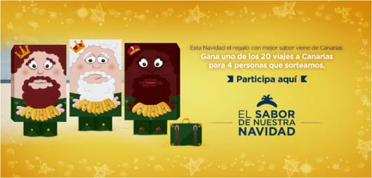 Tres plátanos de Canarias para los tre Reyes Magos 2