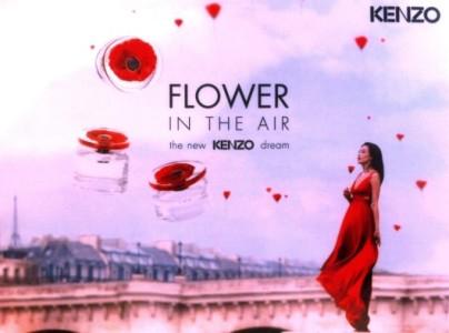 kenzo presenta flowers in air