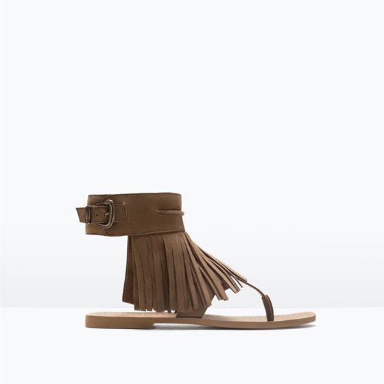 sandalia flecos para el día a día