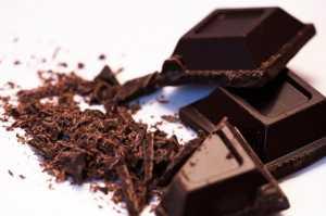 chocolate negro para la piel