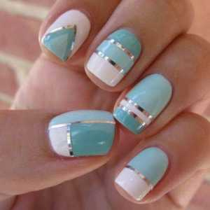 nail art blue azul