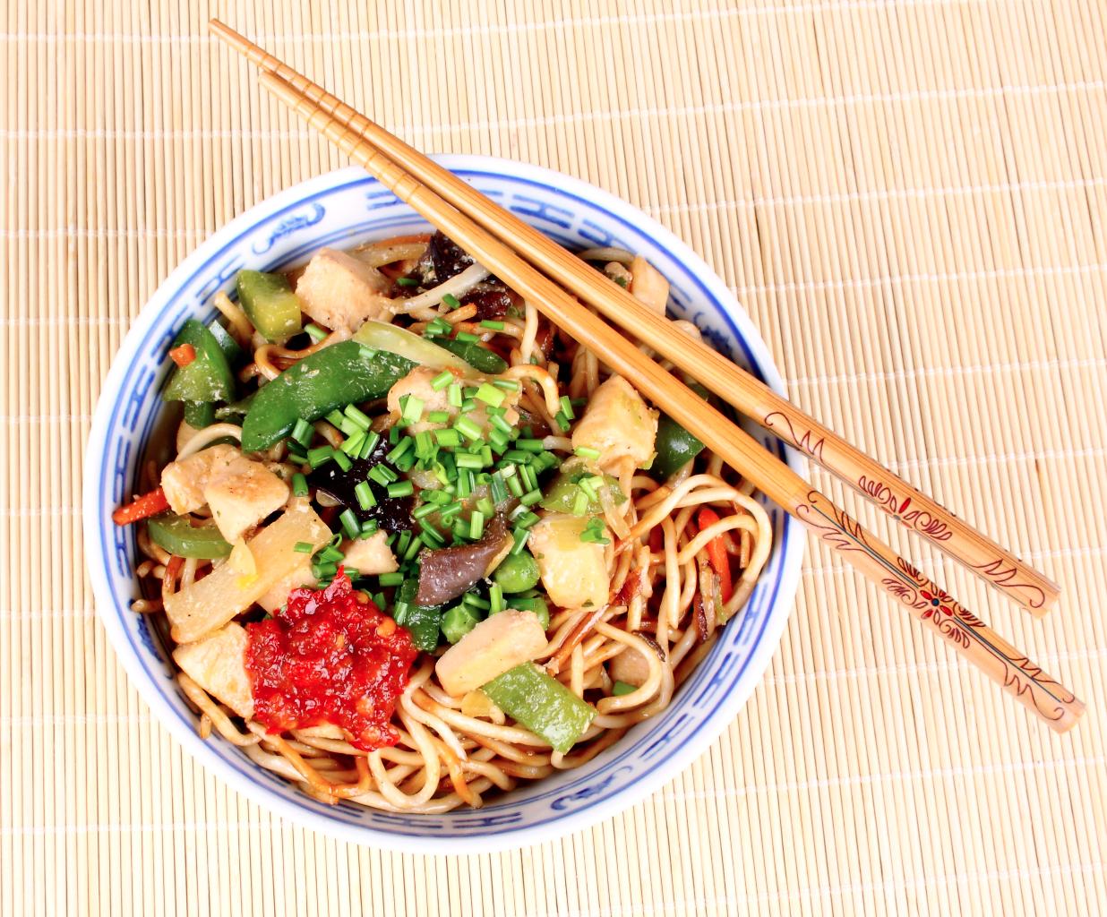 noodles con brocoli