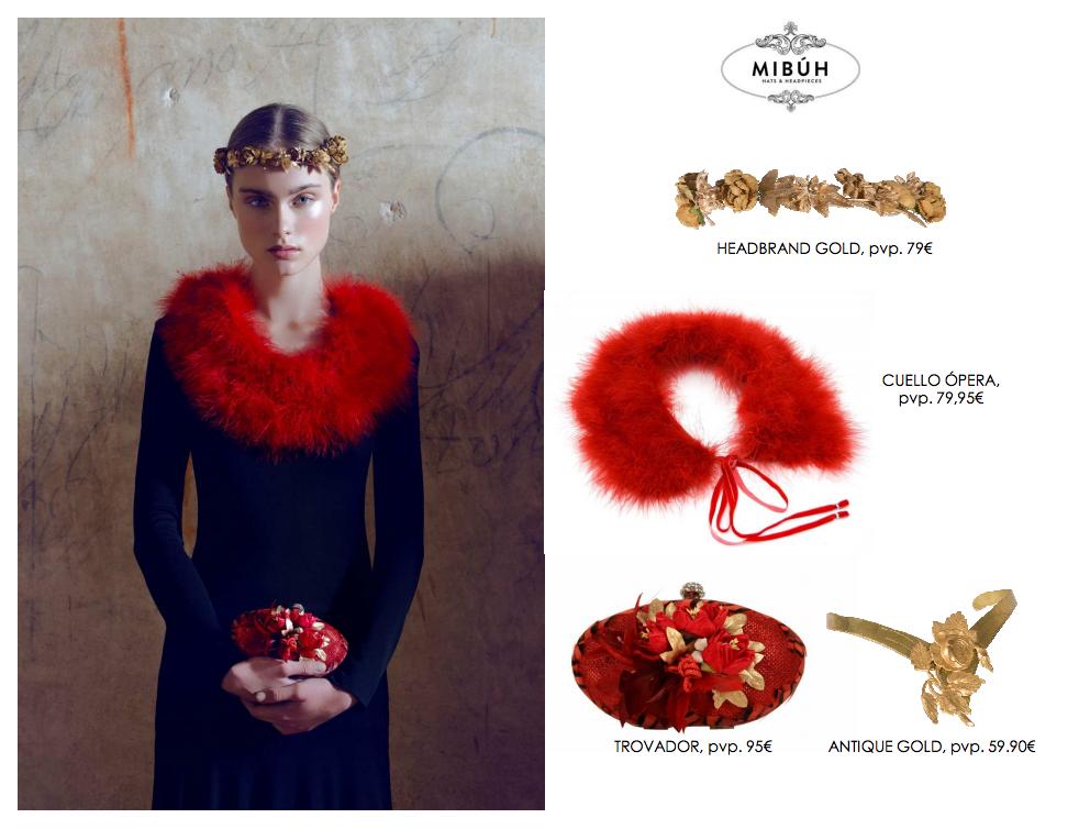 Complementos de fiesta Mibúh para la próxima temporada otoño - invierno 2014  - look rojo y 29d39cf5a13