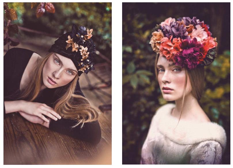Complementos de fiesta Mibúh para la próxima temporada otoño - invierno 2014 - tocados de flores