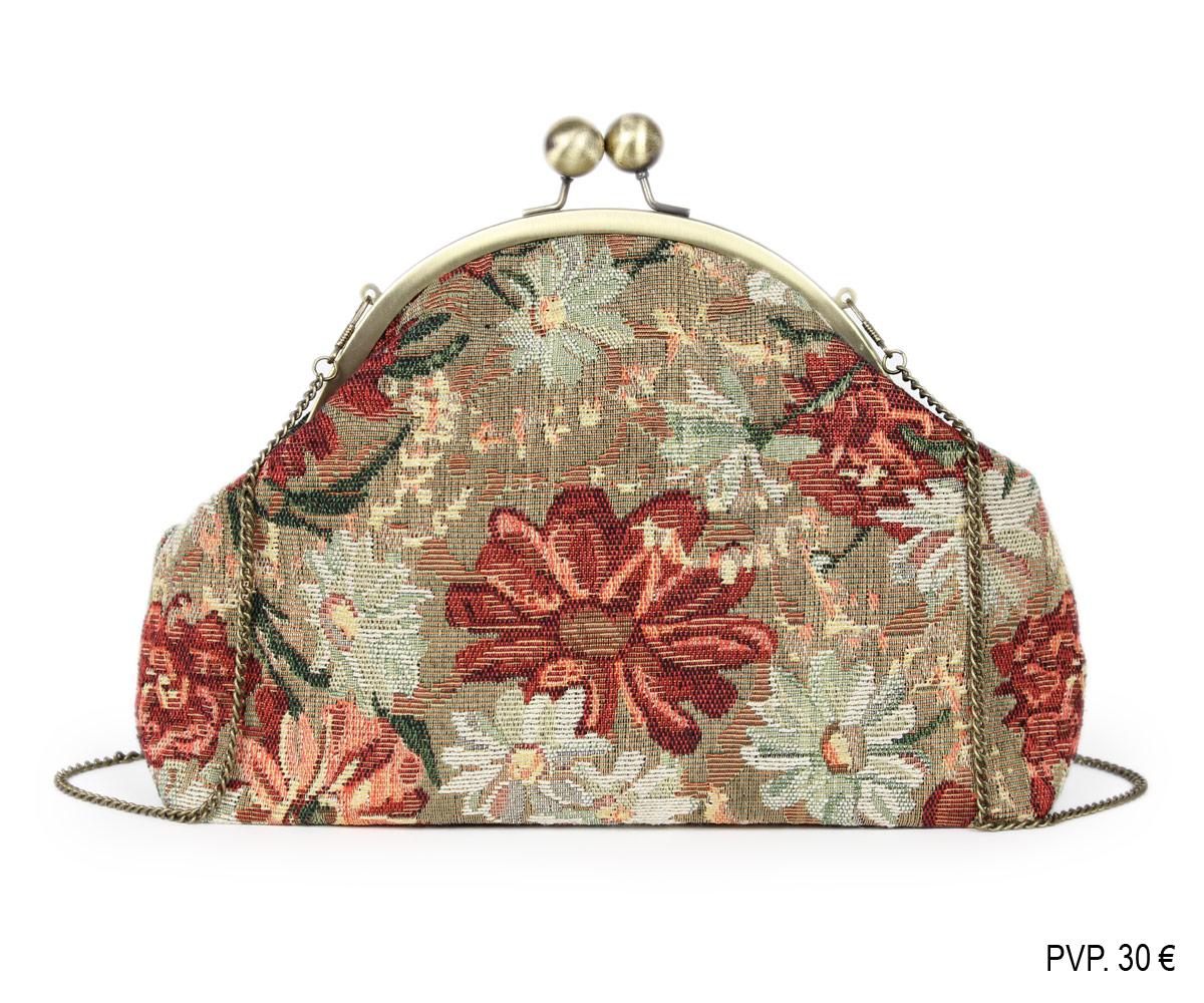 Bolso de boquilla y flores