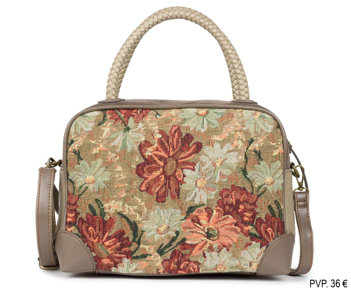 Bolso de mano con flores