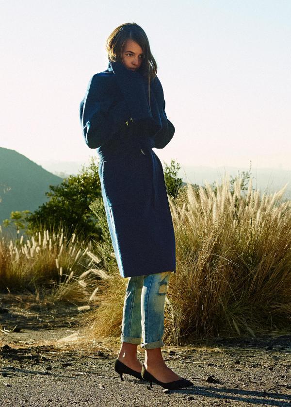 look moda 2014 otoño zara  (abrigo azul)