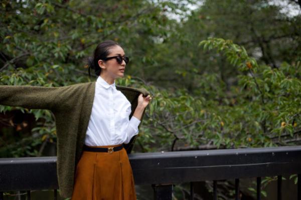 look moda 2014 otoño zara  (chaqieta cuello pico)