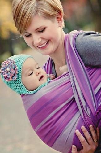 fular tejido para bebé pajaritopinzon